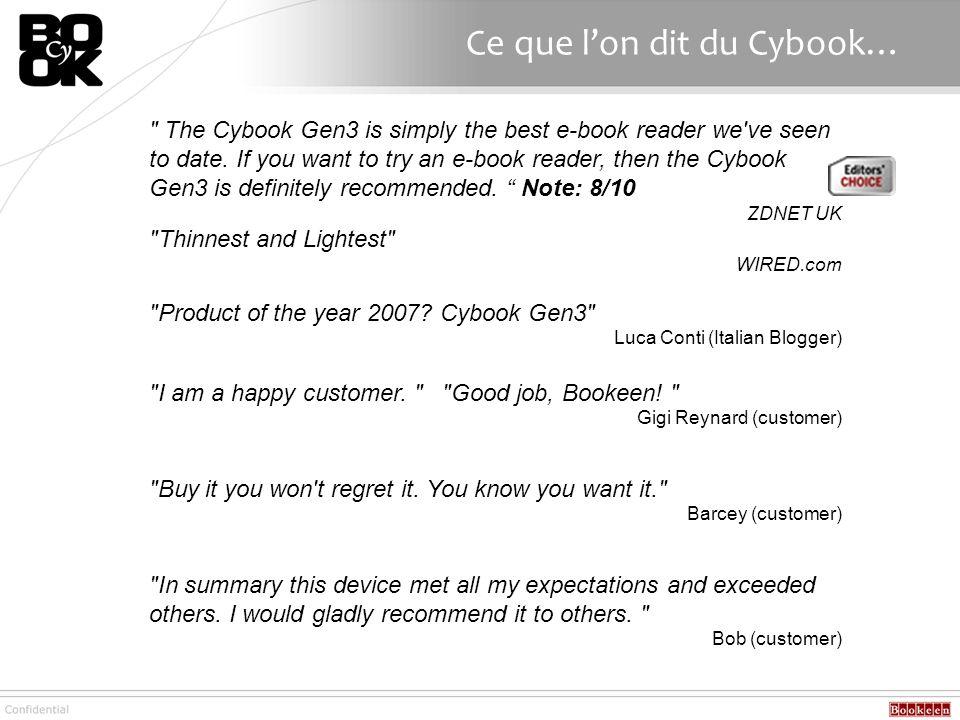 Ce que lon dit du Cybook…