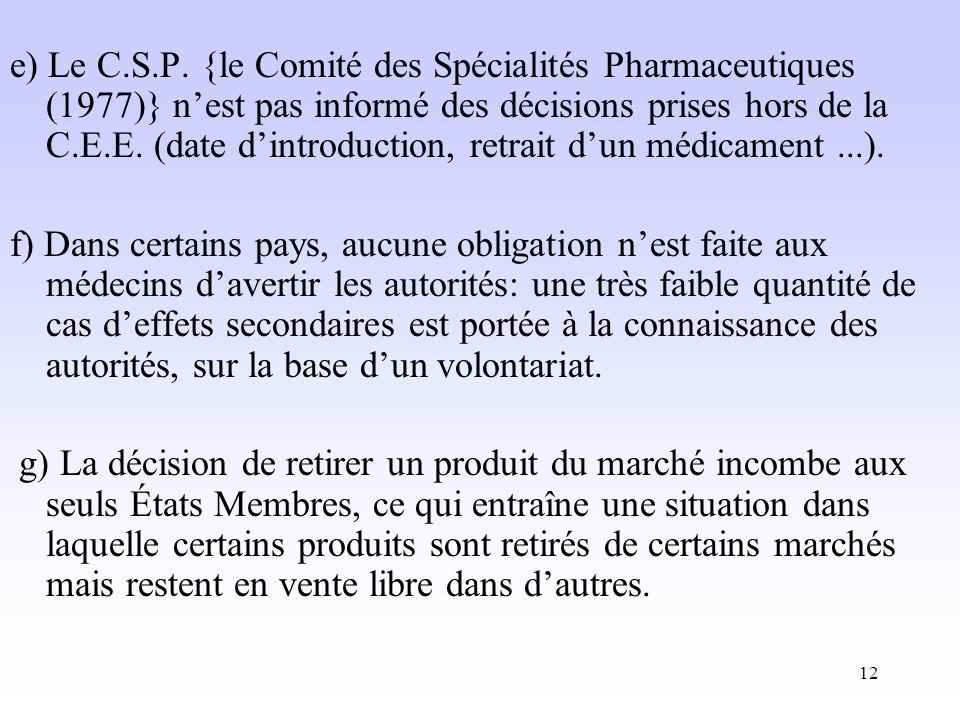 12 e) Le C.S.P.