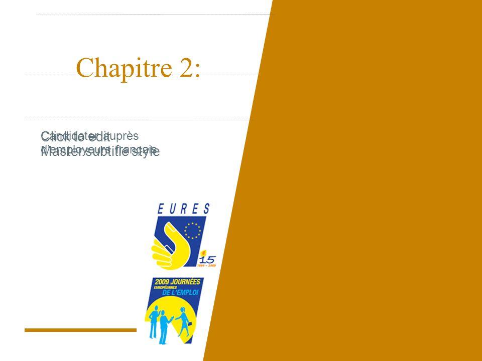 Click to edit Master subtitle style Chapitre 2: Candidater auprès demployeurs français