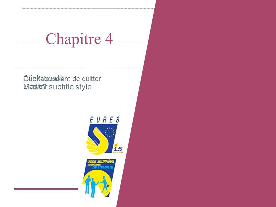 Click to edit Master subtitle style Chapitre 4 Que faire avant de quitter LItalie