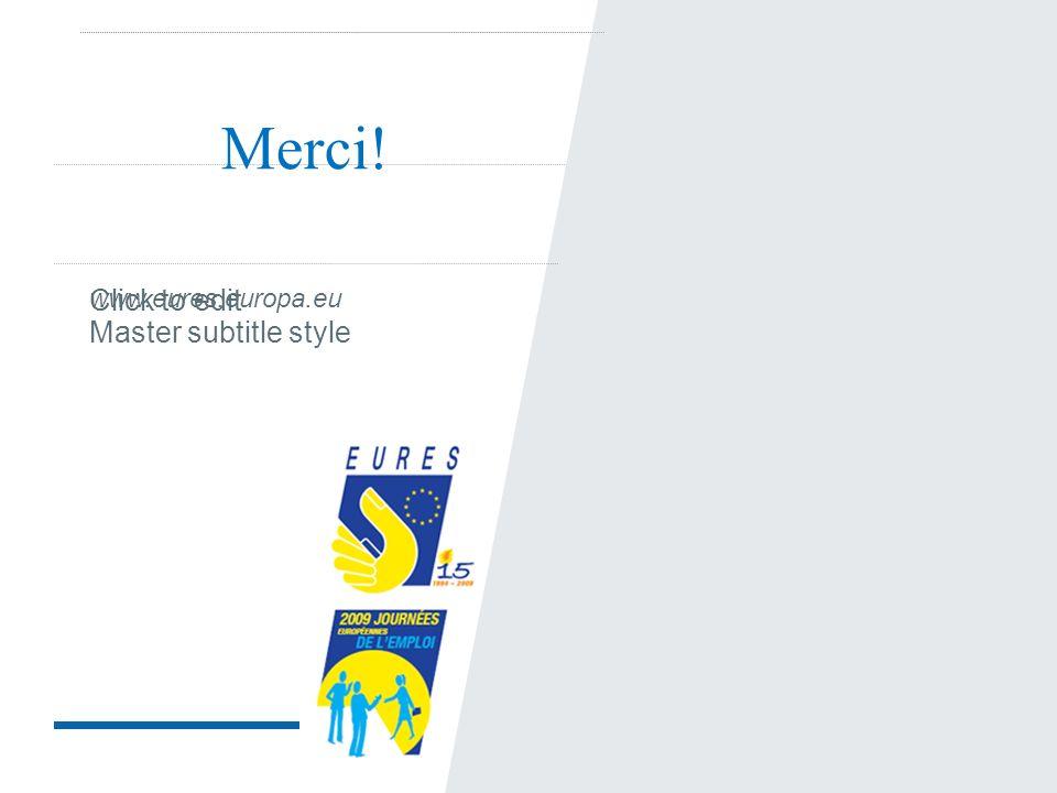 Click to edit Master subtitle style Merci! www.eures.europa.eu
