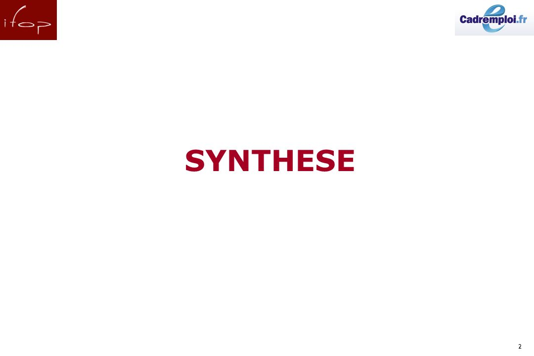 2 SYNTHESE