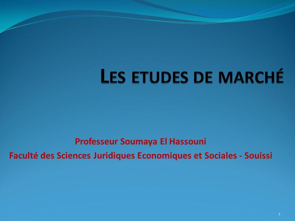 Section I: Quest ce quune étude de marché.12 V.