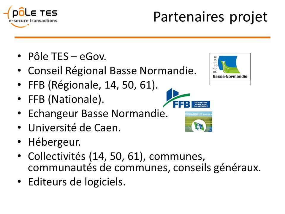 Partenaires projet Pôle TES – eGov. Conseil Régional Basse Normandie. FFB (Régionale, 14, 50, 61). FFB (Nationale). Echangeur Basse Normandie. Univers