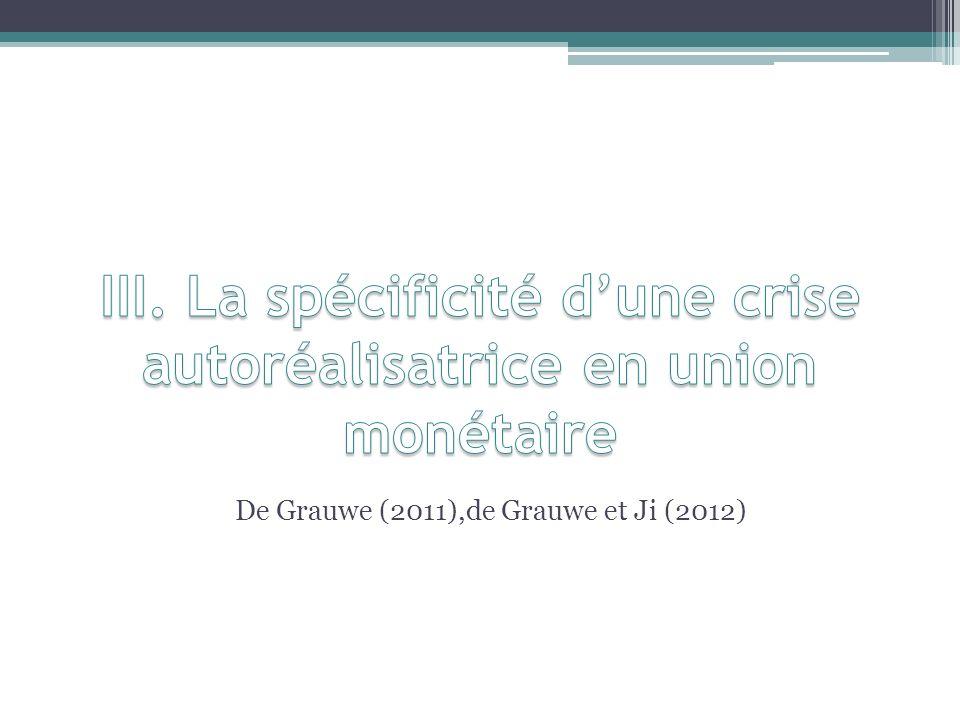 De Grauwe (2011),de Grauwe et Ji (2012)