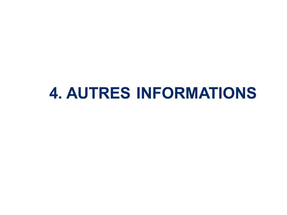 4. AUTRES INFORMATIONS