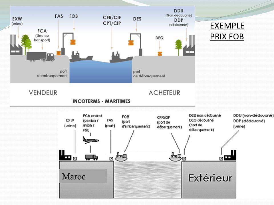 Maroc EXEMPLE PRIX FOB