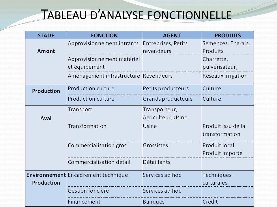 T ABLEAU D ANALYSE FONCTIONNELLE