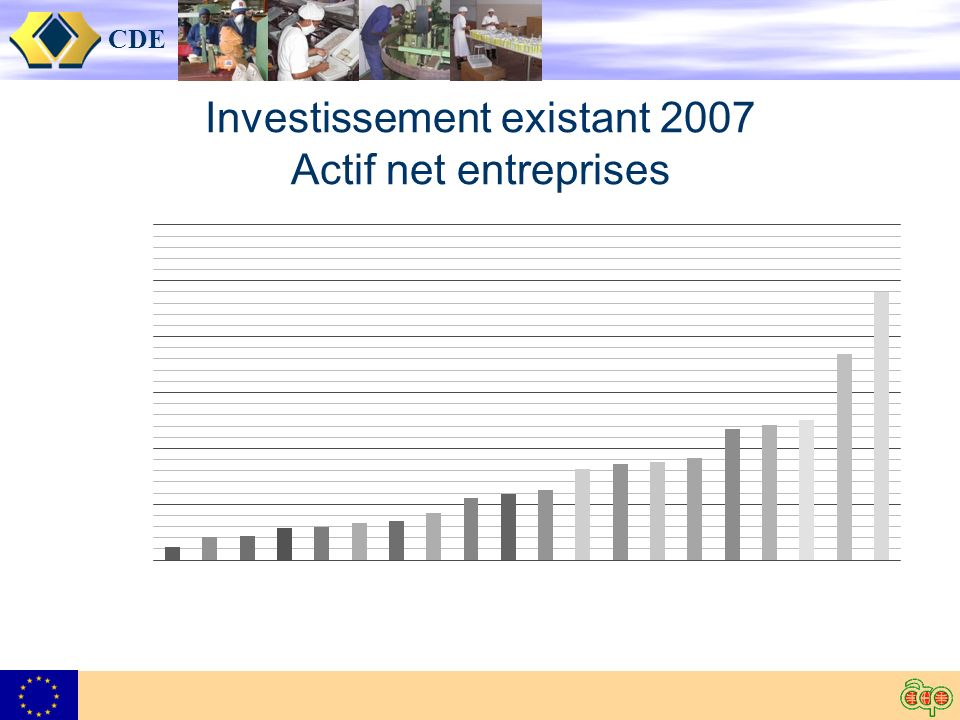 CDE Investissement existant 2007 Actif net entreprises