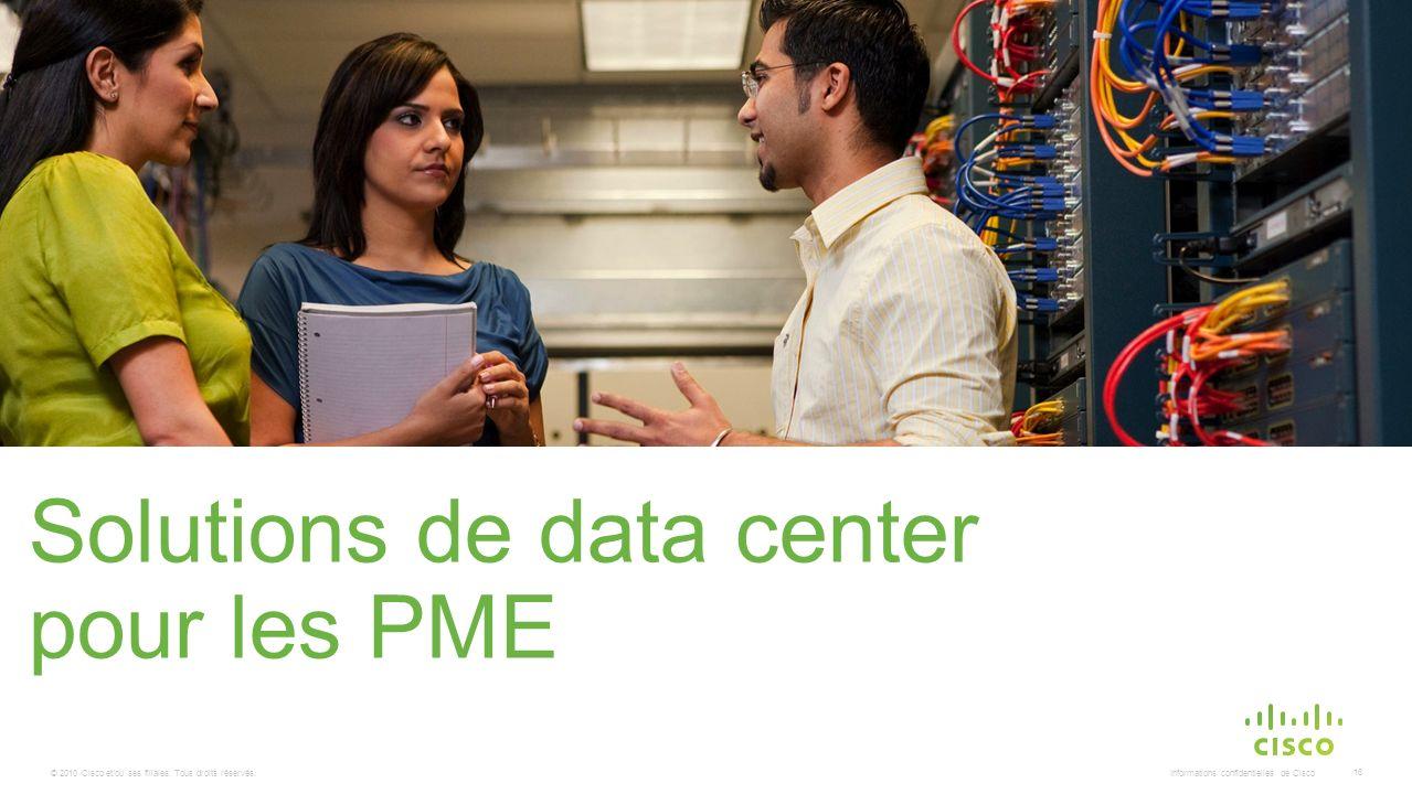 © 2010 Cisco et/ou ses filiales. Tous droits réservés. Informations confidentielles de Cisco 16 Solutions de data center pour les PME