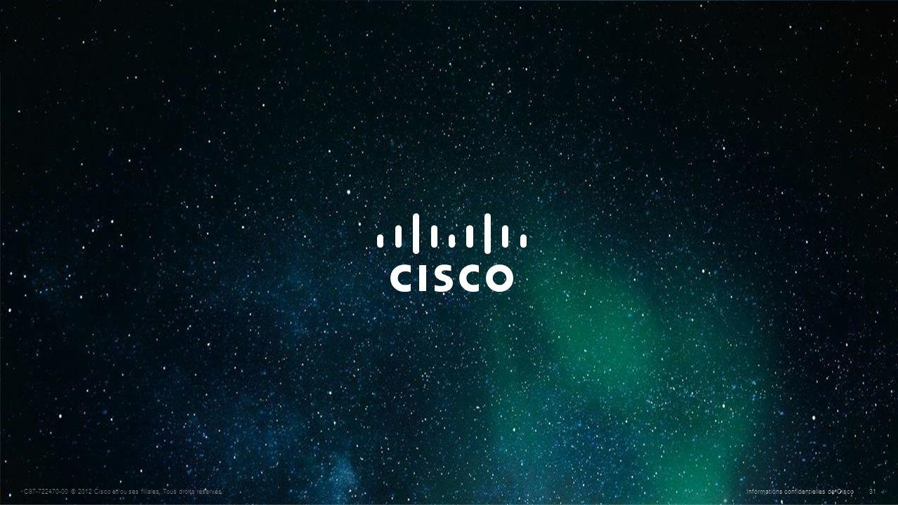 © 2010 Cisco et/ou ses filiales. Tous droits réservés. Informations confidentielles de Cisco 31 C97-722470-00 © 2012 Cisco et/ou ses filiales. Tous dr