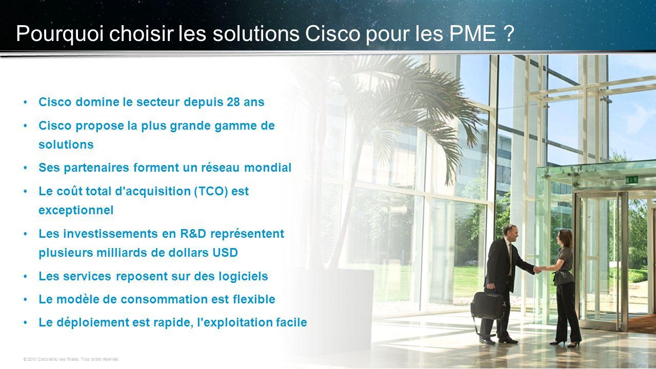 © 2010 Cisco et/ou ses filiales. Tous droits réservés. Informations confidentielles de Cisco 4 © 2010 Cisco et/ou ses filiales. Tous droits réservés.