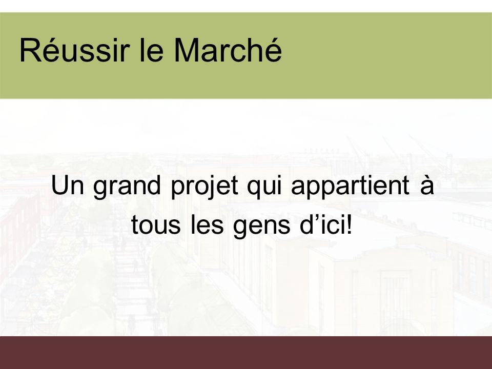 Réussir le Marché Un grand projet qui appartient à tous les gens dici!