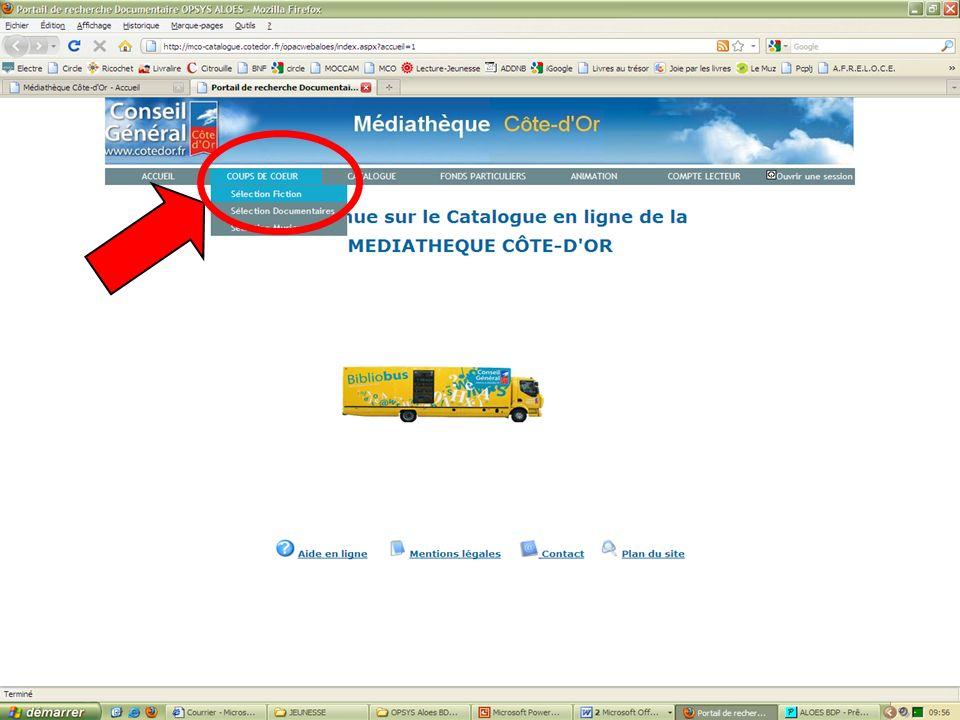 Les coups de cœur de la MCO 4 http://mediatheque.cotedor.fr