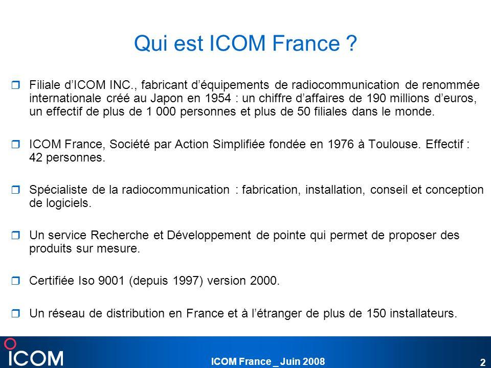 ICOM France _ Juin 2008 23