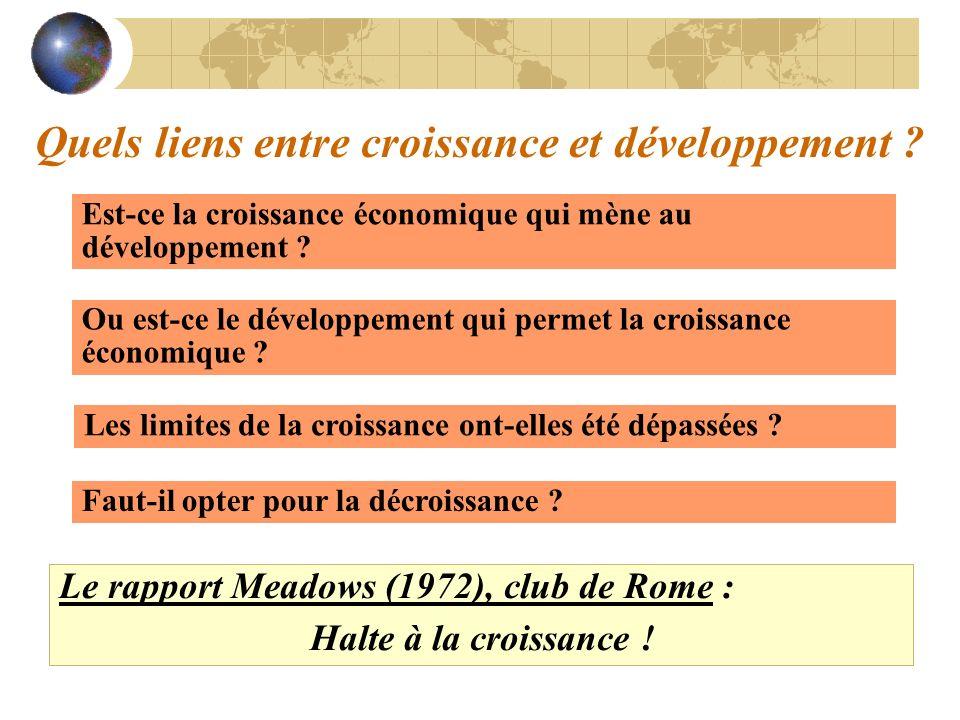 Quels liens entre croissance et développement ? Est-ce la croissance économique qui mène au développement ? Ou est-ce le développement qui permet la c