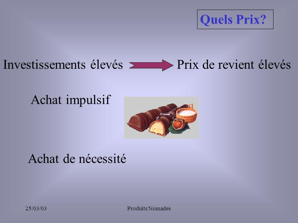 25/03/03Produits Nomades Quels Prix.