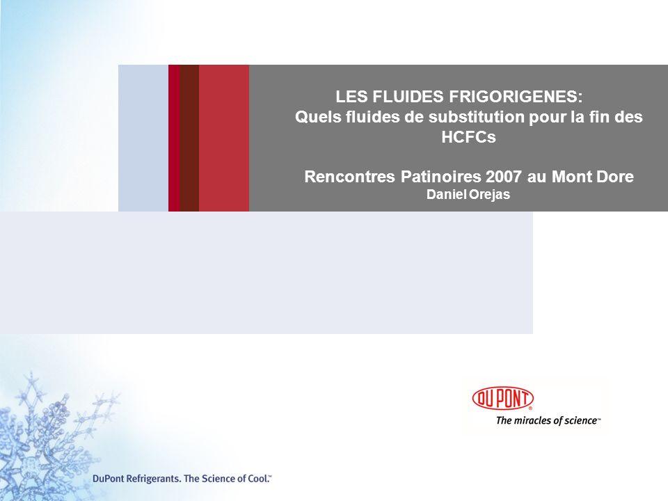 LES FLUIDES FRIGORIGENES: Quels fluides de substitution pour la fin des HCFCs Rencontres Patinoires 2007 au Mont Dore Daniel Orejas