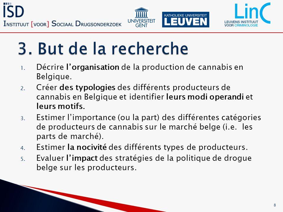 1. Décrire lorganisation de la production de cannabis en Belgique.