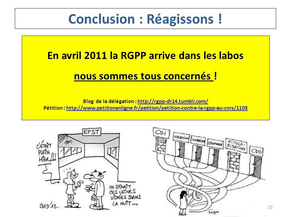 En avril 2011 la RGPP arrive dans les labos nous sommes tous concernés ! Blog de la délégation : http://rgpp-dr14.tumblr.com/http://rgpp-dr14.tumblr.c