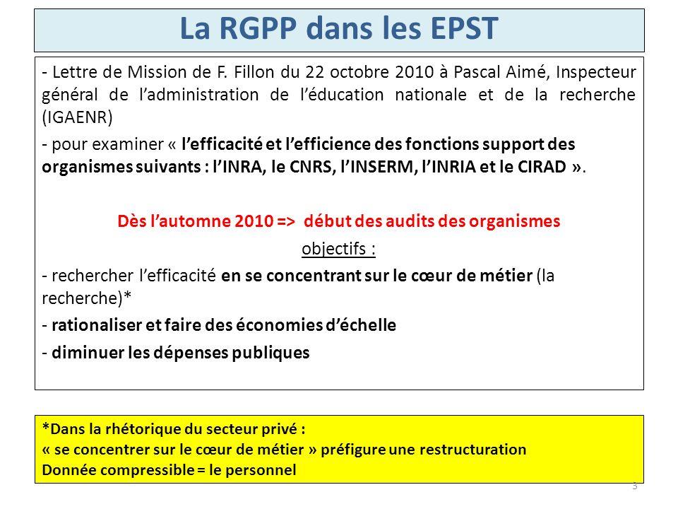 - Lettre de Mission de F. Fillon du 22 octobre 2010 à Pascal Aimé, Inspecteur général de ladministration de léducation nationale et de la recherche (I