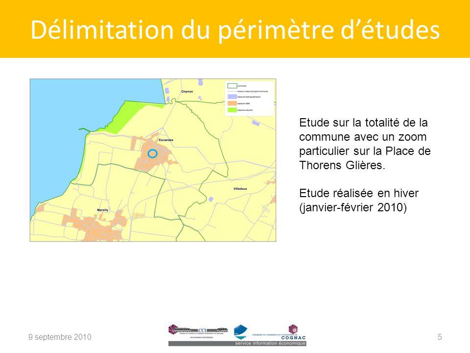 Délimitation du périmètre détudes Etude sur la totalité de la commune avec un zoom particulier sur la Place de Thorens Glières.