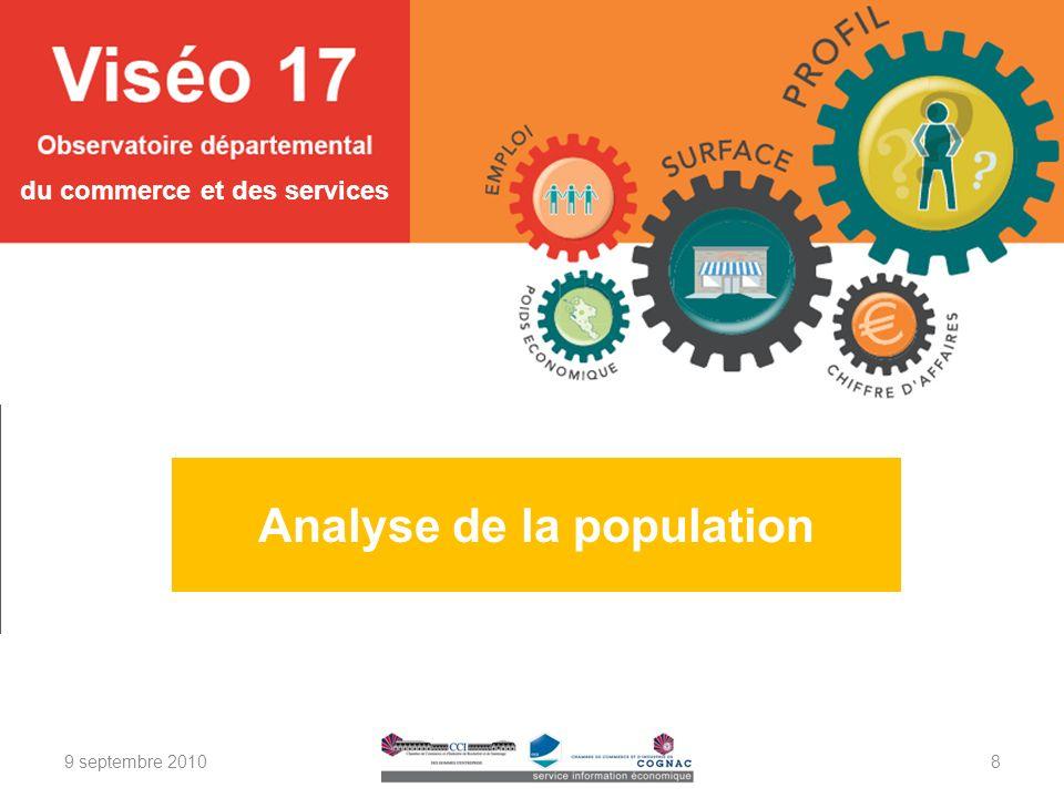 Analyse de la population du commerce et des services 9 septembre 20108