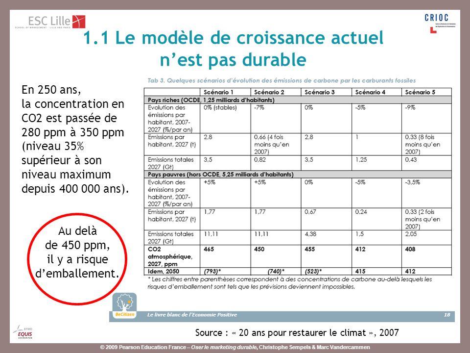 © 2009 Pearson Education France – Oser le marketing durable, Christophe Sempels & Marc Vandercammen Ce quil est nécessaire de faire : le « facteur 4 ».