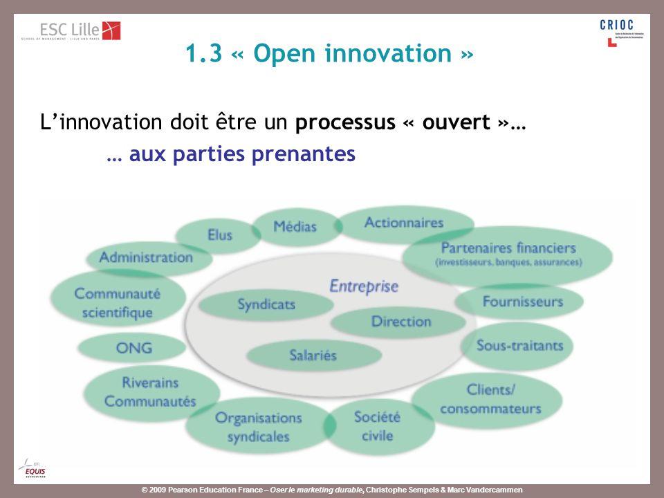 © 2009 Pearson Education France – Oser le marketing durable, Christophe Sempels & Marc Vandercammen Méthode : coopération, partenariat, groupes de travail, etc.