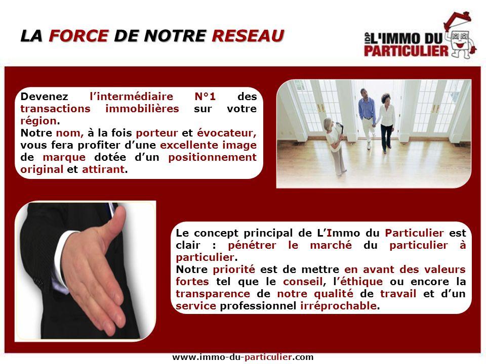 www.immo-du-particulier.com LE MARCHÉ DE LIMMOBILIER Sur lannée 2007, 50% des transactions se sont réalisées entre particuliers, soit 1 vente sur 2 !