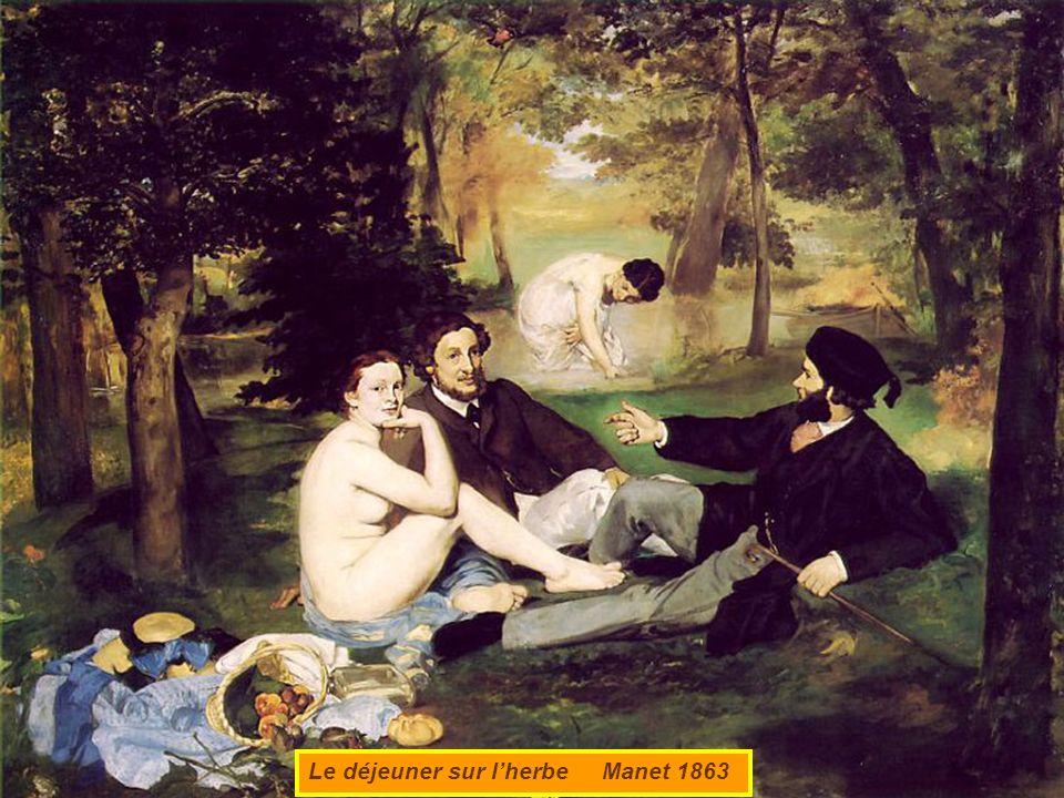 Le déjeuner sur lherbe Manet 1863