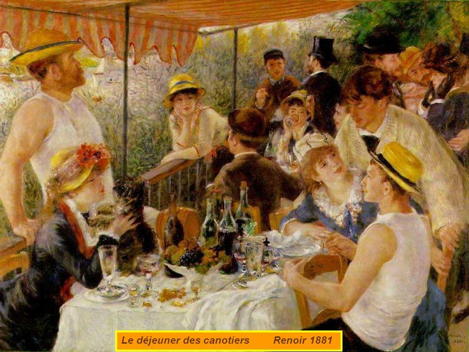 Le déjeuner des canotiers Renoir 1881