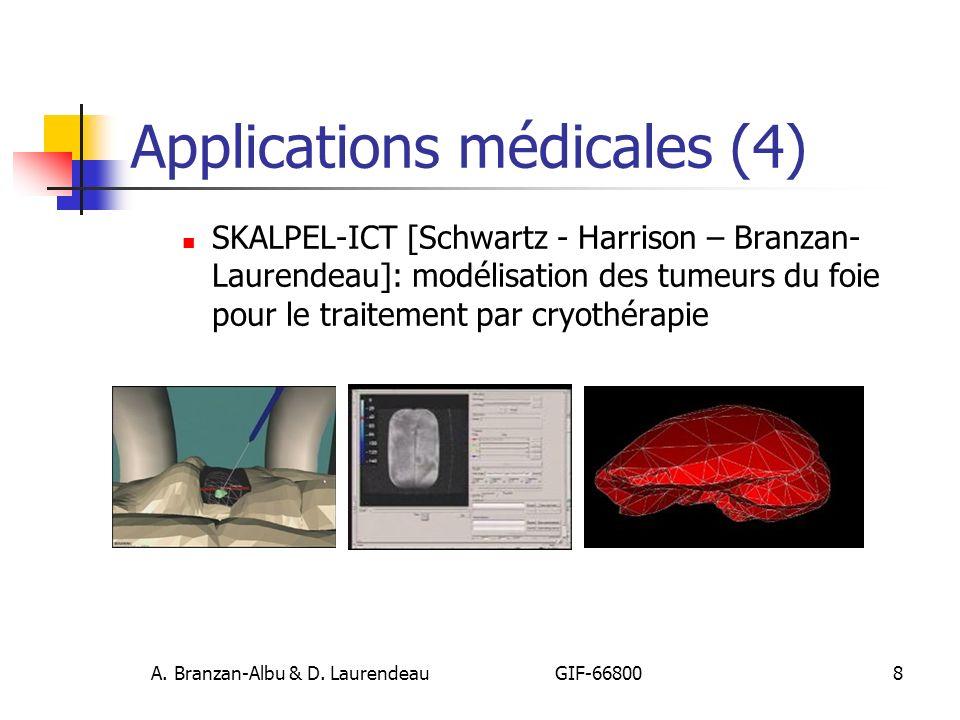 A. Branzan-Albu & D. Laurendeau GIF-66800 8 Applications médicales (4) SKALPEL-ICT [Schwartz - Harrison – Branzan- Laurendeau]: modélisation des tumeu