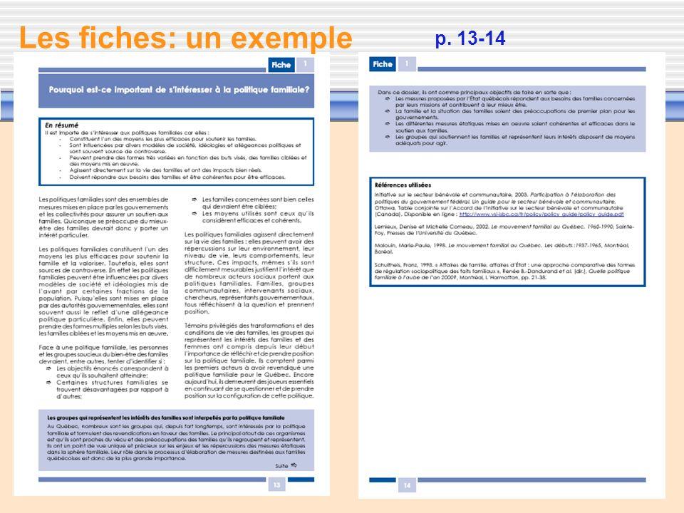 8 p. 13-14 Les fiches: un exemple
