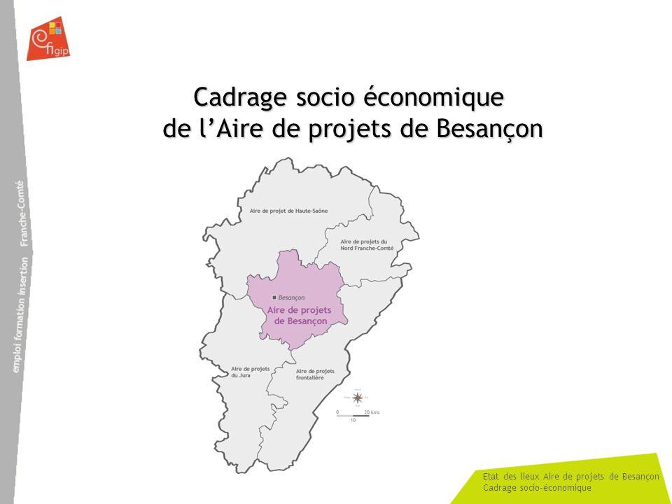 Etat des lieux Aire de projets de Besançon Cadrage socio-économique Cadrage socio économique de lAire de projets de Besançon