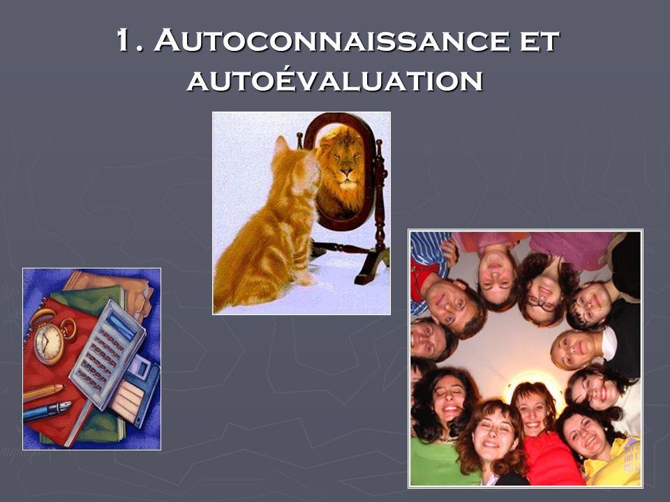 1. Autoconnaissance et autoévaluation