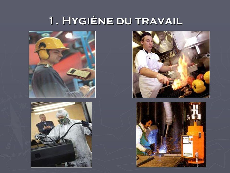 1. Hygiène du travail