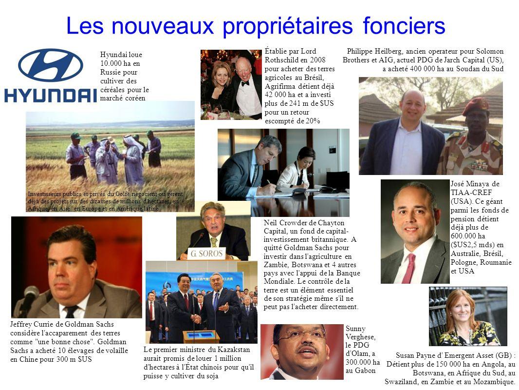 GRAIN 10/2011 Les nouveaux propriétaires fonciers Établie par Lord Rothschild en 2008 pour acheter des terres agricoles au Brésil, Agrifirma détient d