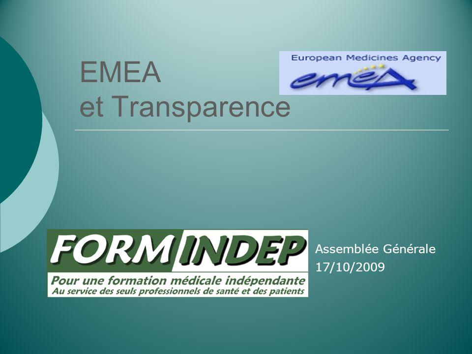 EMEA et Transparence Assemblée Générale 17/10/2009