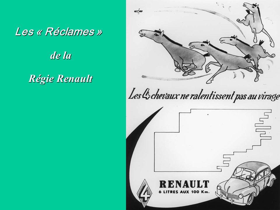 Les « Réclames » de la Régie Renault