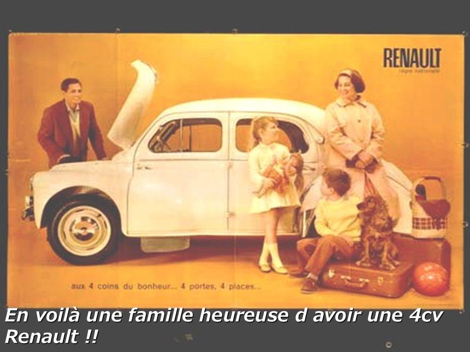 En voilà une famille heureuse d avoir une 4cv Renault !!