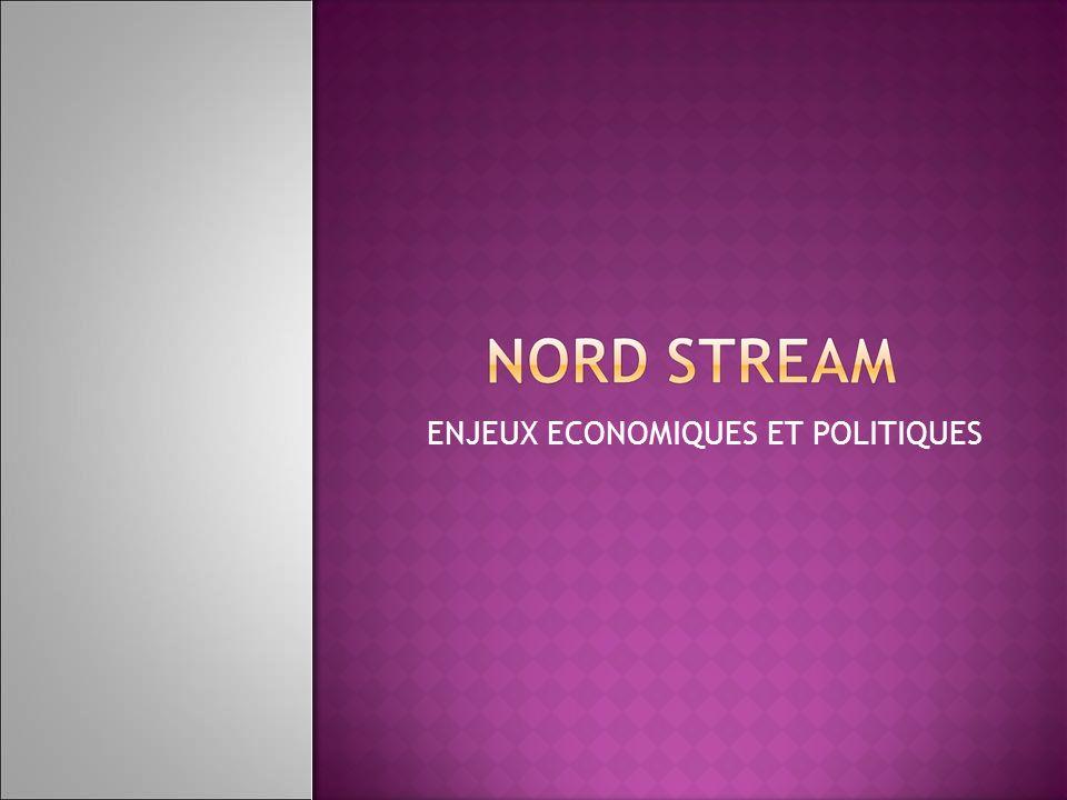 Etat des lieux Définition du projet Nord Stream Acteurs en présence Etat des besoins gaziers en Europe Enjeux Enjeux économiques pour Europe, la Russie et lAllemagne Enjeux politiques : les voix contre Les conséquences dun tel projet sur léquilibre énergétique européen Conclusion Bilan à court terme