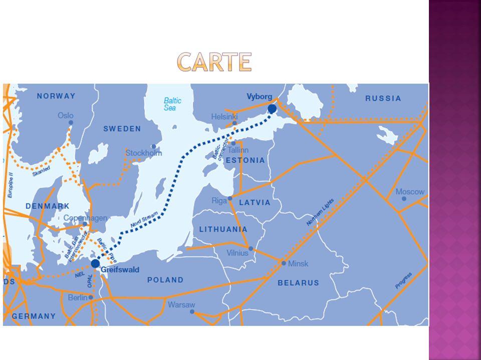 Le 8 septembre 2005 a été signé, à Berlin, laccord portant création du gazoduc nord-européen, destiné à relier directement la Russie à lAllemagne, via la Mer Baltique.