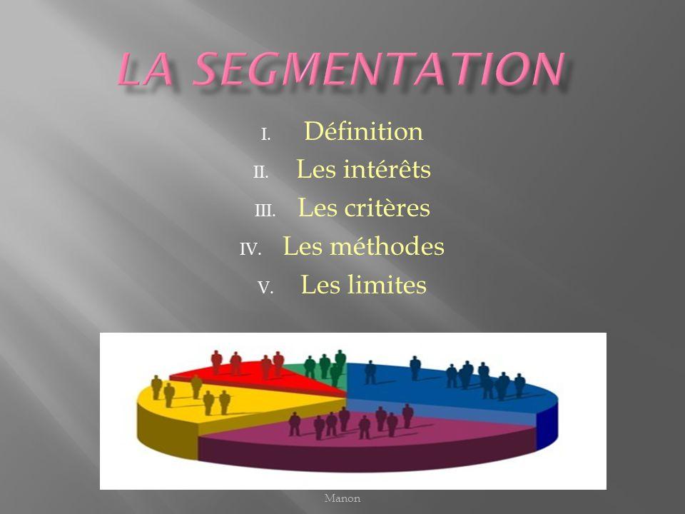 I. Définition II. Les intérêts III. Les critères IV. Les méthodes V. Les limites Manon