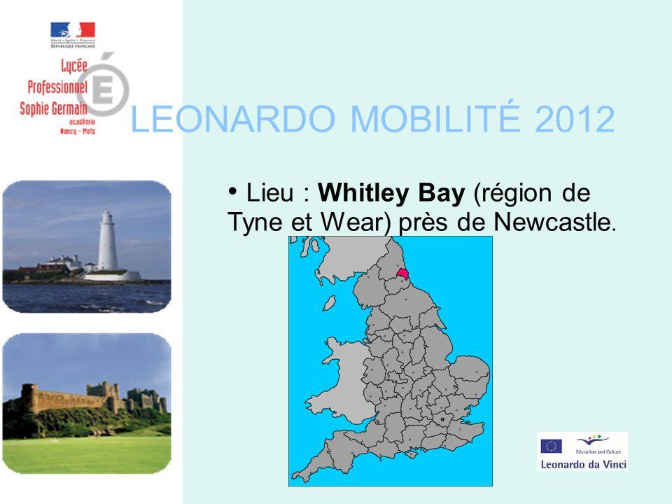 LEONARDO MOBILITÉ 2012 Lieu : Whitley Bay (région de Tyne et Wear) près de Newcastle.
