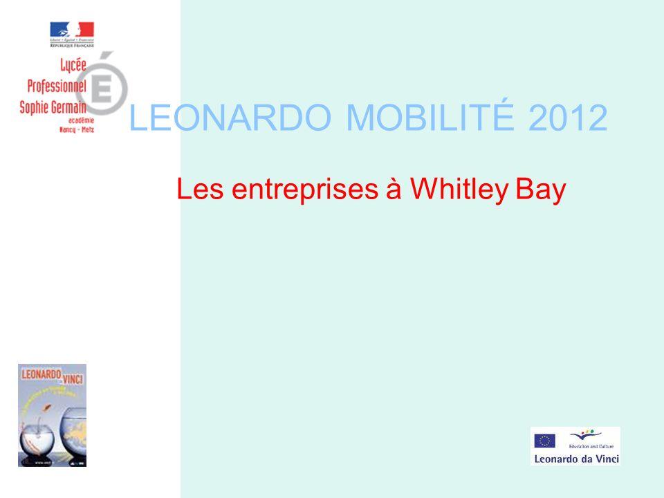 LEONARDO MOBILITÉ 2012 Les entreprises à Whitley Bay