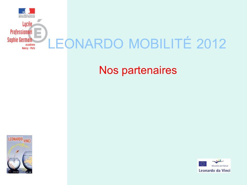 LEONARDO MOBILITÉ 2012 Nos partenaires