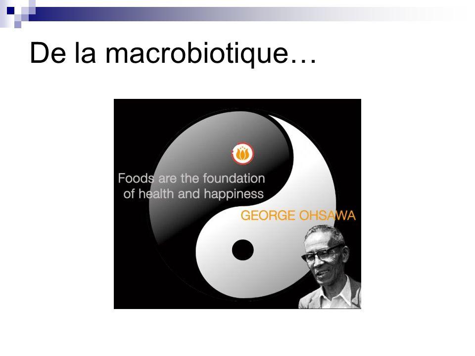 Principe de la macrobiotique Le terme de macrobiotique est composé à partir des éléments grecs macro = grand, et bio = la vie.