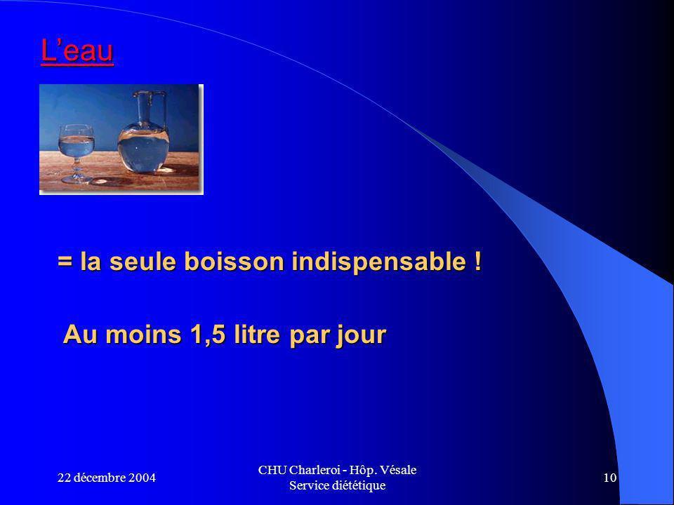 22 décembre 2004 CHU Charleroi - Hôp.