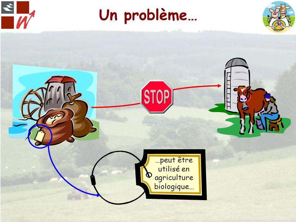 Un problème… …peut être utilisé en agriculture biologique…